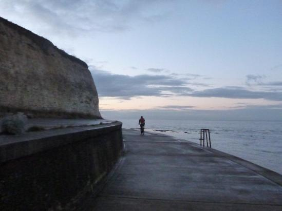 evening riding along the coast back to Whitstable